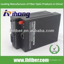 10/100 / 1000M FC SM Convertidor de medios ópticos de fibra única