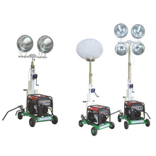 Torre de luz LED inflável com carrinho para construção de emergência ao ar livre de mineração de construção FZM-Q1000