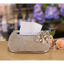 Boîte à papier utile décorée de perles, porte-papier en papier de résine haute qualité
