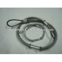Câble de sécurité de contrôle de fouet d'acier inoxydable pour le service de tuyau au tuyau