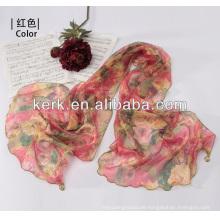 W3016 Ningbo Lingshang 2014 Neueste Fabrik Preis Weibliche 100% Polyester Hijab Schal