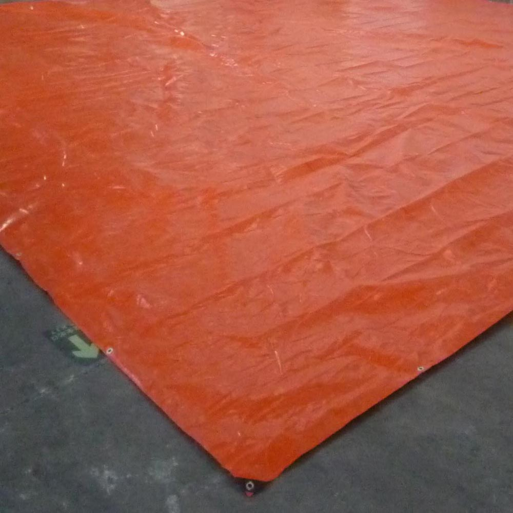 Orange Silver Tarpaulin Sports equipment cover