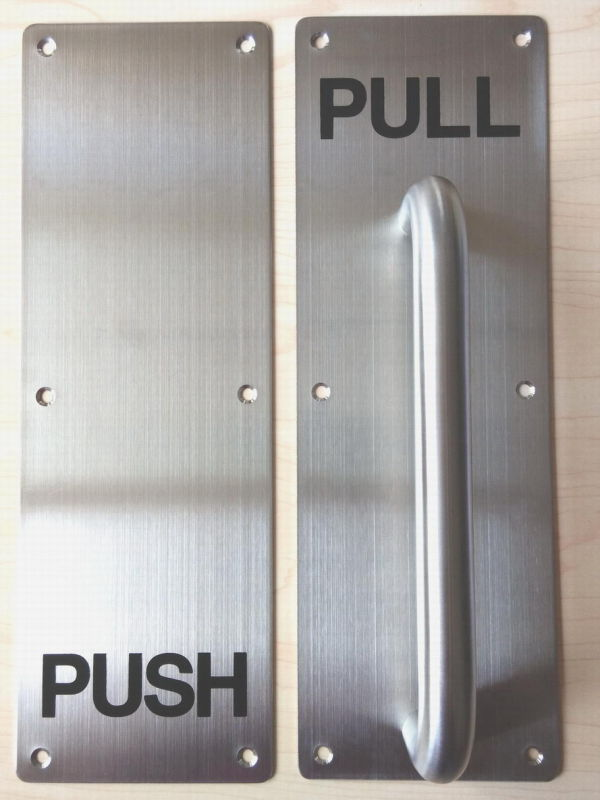 Door push pull the design offers a handle to the pull for Door push plates