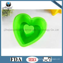 Silicone Bakeware Baking Pan with Heart Shape FDA Approved Sc05