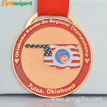 Custom Engraved Medallions With Soft Enamel