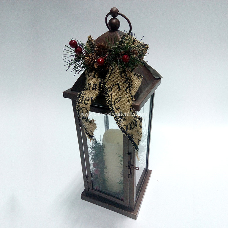 Holiday Series Metal Hurricane Light Home Lantern