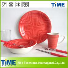 32PC porcelana decorada cena conjunto (632001)