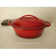 Casserole de cuisine en fonte ovale