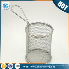 Gold Lieferant 304 316 Edelstahl Drahtgeflecht Korb für medizinische Sterilisation Ausrüstung