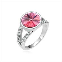 VAGULA Rhinestone ródio chapeado anel de cristal