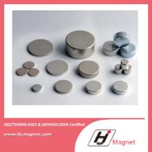 Высокая мощность сильная N35-52 неодимовый магнит диск с ISO9001 Ts16949