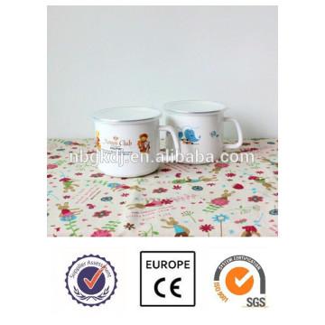 Top-Qualität Tier Aufkleber benutzerdefinierte Emaille Milch Becher