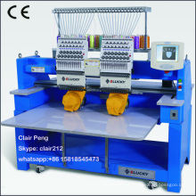 2 head programmable embroidery machine digital for cap t-sirt and flat embroidery
