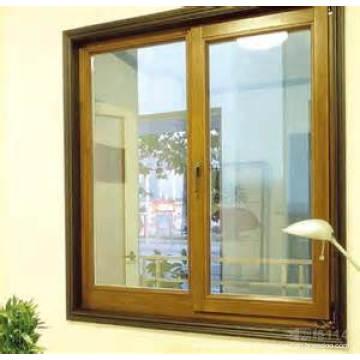 Fenêtre coulissante et coulissante en verre à double vitrage en aluminium / aluminium