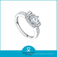 O OEM aceitou o projeto do anel da prata esterlina da cruz 925 (R-0492)