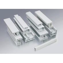 Perfis de PVC para portas e janelas deslizantes de 80 mm