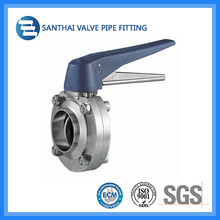 Ss304 Material Pulling Handle Clamped Sanitary Butterfly Valves