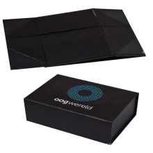 Logo impreso de papel plegable cajas de embalaje de regalo