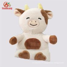 porte-téléphone portable vache en peluche jouets en peluche jouets en peluche