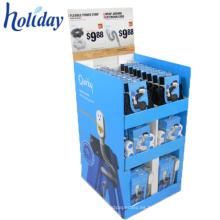 Caja de presentación de luz LED portátil de cartón corrugado