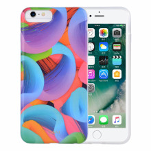Impressão colorida IML TPU e PC Hybrid iPhone6 ​​Case