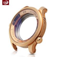 Parte mecanizada CNC redondo reloj de oro rosa