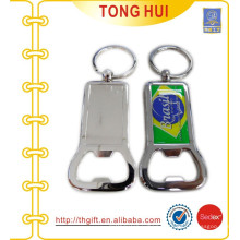 High quality custom stickers logo metal blank bottle opener keychain