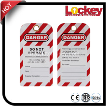 Safety PVC Warning tags lockout Tagout Tag