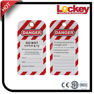 Plastic Sealed Lockout Tags