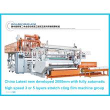 Línea de extrusión de película adhesiva de alta velocidad automática de bajo costo