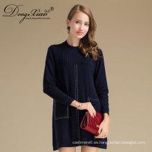 Vestido de suéter de la escuela suprema de la moda del invierno con MOQ bajo y precio