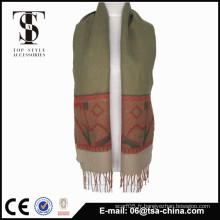 Femmes d'hiver motifs jacquard souples écharpe châle de petite taille