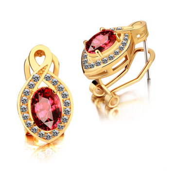 Hot Sales 925 Silver Hoop Boucles d'oreilles CZ Jewelry Gold Plate