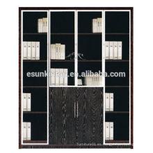Oficina de muebles de estantería usada con color oscuro de roble, muebles para oficina en venta (KB844-2)