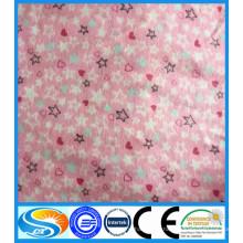2015 tejido impreso reactivo de franela de algodón, pañal de productos de franela de bebé