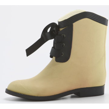 Apricot Women Rubber Rain Boots For Fashion