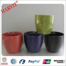 China Decoración para el hogar Flor Pot Venta al por mayor Cerámica Glazed Flower Pot / Plantas de colores de la planta / pequeños macetas de cerámica