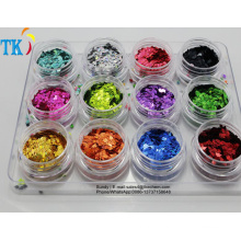 Glitter powder pigment for Christmas decorations.