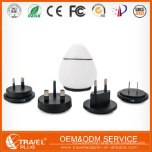 Worldwide travel adapter with dual usb for anniversary gift