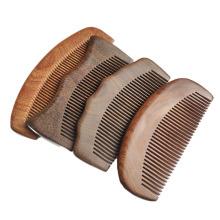 Maquiagem Ferramentas para cuidados com o cabelo Pente para cabelo de bolso de madeira