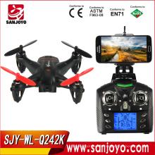 Best seller Mini drone WLtoys Q242 - K WIFI FPV 4 canales 6 ejes Gyro 2.4GHz RC Quadcopter con cámara de 2.0MP HD SJY-Q242K