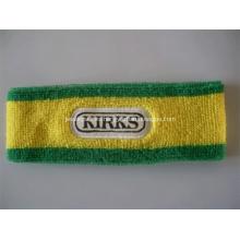 Bandolera promocional de algodón de Terry con logo bordado
