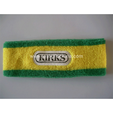 Promotional Embroidered Logo Cotton Terry Sport Headband