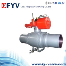 API6d Long Connection Full Welded Ball Valve with Pneumatic