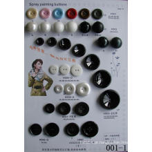 Botões de poliéster para camisas Calças e Suítes