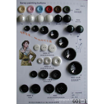 Polyester Buttons for Shirts Trousers and Suites