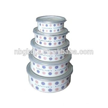 all body decal &fashion Chinese of 5 pcs competitive enamel ice bowl