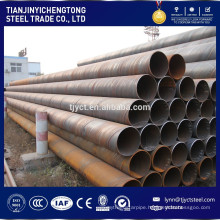 carbon sprial welded fluid steel pipe/tube factory /mill prices