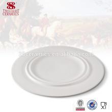 Assiettes allemandes peu coûteuses en porcelaine blanche bon marché