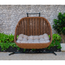 Poly Resin Rattan Patio Wicker 2-Seats Swing Chair or Hammock For Outdoor Garden